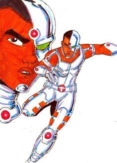 Teen Titans A-Z : Cyborg by kidmarvelj
