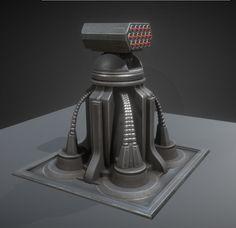 Futuristic Air Defense Gun Tower Animated 3D Model .max .c4d .obj .3ds .fbx .lwo .stl @3DExport.com by DennisH2010