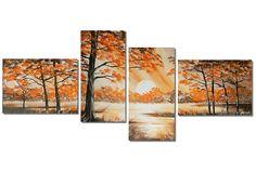 Schilderij Autumn Landscape