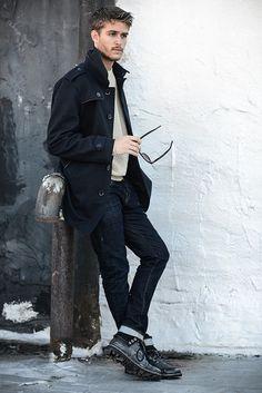 Trendy fashion  #coat #menswear #sweater