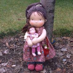 Купить Машунька - ярко-красный, вальдорфская кукла, машунька, taisoid, tayadolls, waldorf doll