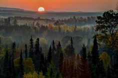 Sunrise at Brule River Valley by David Johnson on Capture Minnesota // fall colors brule river valley.