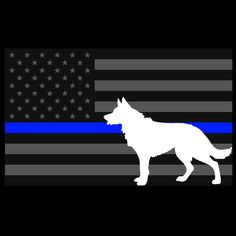 5x3 Inch Reflective Decal K9 Tactical Police by TacticalTextile