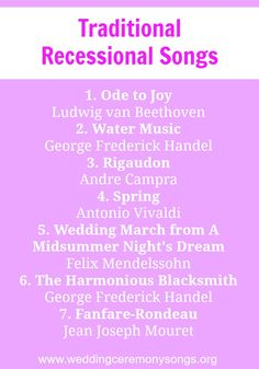 12 best Wedding Recessional Songs images on Pinterest | Wedding ...