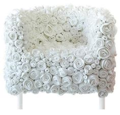 Jeanette Vallebæk Holdgaard Furniture Design & Art: Chair Design With Covered by Felt Roses Materials-Felt Roses Chair by Ricrea Funky Furniture, Art Furniture, Unique Furniture, Furniture Design, Decoupage Furniture, Furniture Chairs, Plywood Furniture, Upholstered Chairs, Painted Furniture