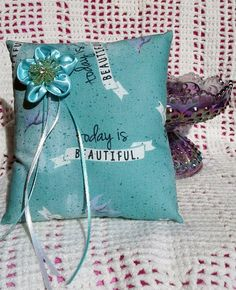 Today is Beautiful Ring Bearer Pillow Bridal Wedding by Whimsybags