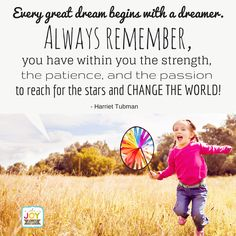 Every great dreamer begins with a dream! What's your dream?