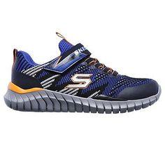 Skechers Kids' Spektrix Memory Foam Sneaker Pre/Grade School Shoes (Blue/Black/Orange)