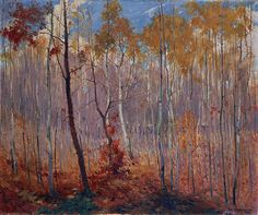 """Late Fall, Manitoba,"" L.L. FitzGerald, 1917, oil on canvas, 30.2 x 36.1"", National Gallery of Canada."