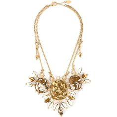 Vivienne Westwood Gold Plated Lusaka Necklace (12.070 CZK) ❤ liked on Polyvore featuring jewelry, necklaces, gold, gold plated jewelry, adjustable chain necklace, chain jewelry, vivienne westwood necklace and cluster necklace