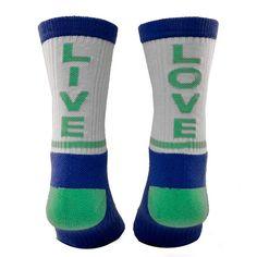 Live Laugh Love- Tri To Inspyr - White, Blue, Green