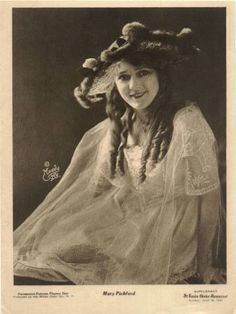 Mary Pickford-Youthful and vibrant-looking, she was often performing as the little girl lost or girl next door, in such films as A Child's Remorse (1912), Fate (1913), Such a Little Queen (1914), Esmerelda (1915), and Less Than the Dust (1916)