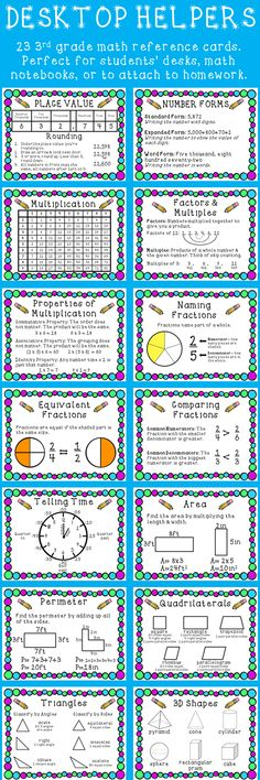 Math Story Problem Types (direct link to free pdf) Wonderful ...