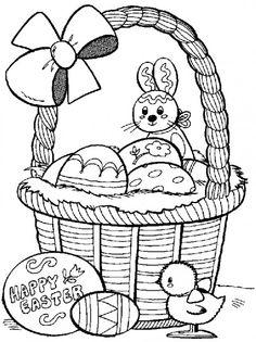 Biglietto di Pasqua con il cesto pasquale