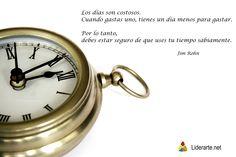 La sabiduria y el buen uso del tiempo...