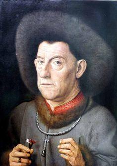Jan van Eyck, Portrait of a Man with Carnation, Renaissance Renaissance Kunst, Die Renaissance, Renaissance Portraits, Renaissance Artists, Renaissance Paintings, Jan Van Eyck, Art Van, Robert Campin, Michael Borremans