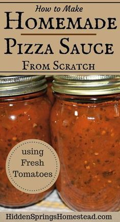 How to make homemade from scratch pizza sauce using fresh tomatoes. It's the best authentic home canned pizza sauce using all fresh ingredients. Garlic, Olive Oil, Spices just pure sweetness. This easy recipe will have you making your own homemade pizza Making Homemade Pizza, How To Make Homemade, Healthy Homemade Pizza, Homemade Things, Home Canning Recipes, Cooking Recipes, Pizza Recipes, Tomato Canning Recipes, Fresh Tomato Recipes
