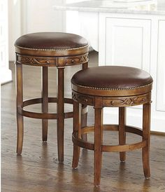Belleville Swivel Counter Stool - traditional - bar stools and counter stools - Ballard Designs