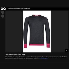 British GQ: John Smedley neon unisex range for our Singular collection