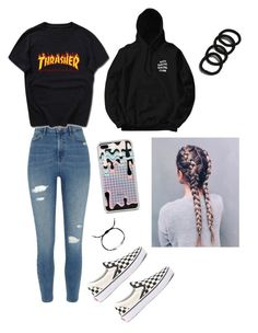 """""""Untitled #83"""" by haileymagana on Polyvore featuring River Island, Vans, Anti Social Social Club and Effy Jewelry"""