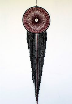 Maroon Portals Dream Catcher