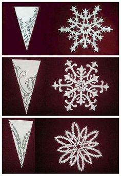 DIY origami paper-cut snowflakes
