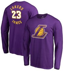 LeBron James Los Angeles Lakers Fanatics Branded Round About Name   Number  Long Sleeve T-Shirt – Purple 646bf74c4