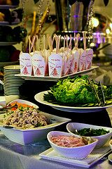 Yummy looking Thai appetizer station