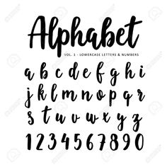 Hand drawn vector alphabet, font, isolated letters written with marker, ink Hand Lettering Styles, Hand Drawn Lettering, Creative Lettering, Brush Lettering, Lettering Design, Caligraphy Alphabet, Handwriting Alphabet, Hand Lettering Alphabet, Bullet Journal Banner