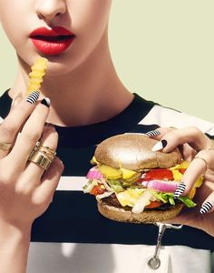 <p>This fun and visual 'Guilty Pleasure' editorial was shot by Jessica Budnick, styled by Megan Wilde and a beautiful food styling (and Makeup) by Amber Shircliff.  Photography / Jes
