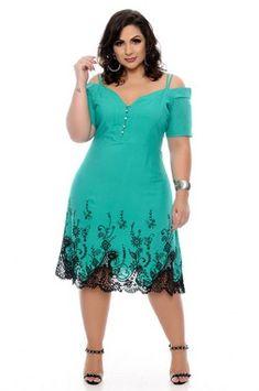 Vestido Plus Size Eslleya Plus Size Bikini Bottoms, Women's Plus Size Swimwear, Vestidos Plus Size, Plus Size Dresses, Curvy Girl Fashion, Plus Size Fashion, Latest African Fashion Dresses, Classy Dress, African Dress