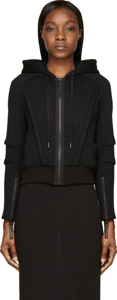 Helmut Lang - Black Active Space Zip-Up Hoodie
