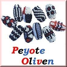 Peyote Oliven I Immer Wieder Perlen Beading, Olives, Beads, Bead Weaving, Twin Beads, Beaded Embroidery