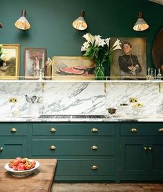 Another stunner from @devolkitchens. #greenwithenvy #kitchendesign #inspired