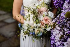 Pastel blue and pastel pink with cotton bride bouquet Informal Weddings, Bride Bouquets, Pastel Blue, Looking Stunning, Engagement Shoots, Spring Wedding, Getting Married, Wedding Venues, Floral Wreath