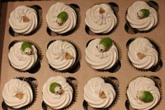 Makers Mark and Ginger Ale Cupcakes
