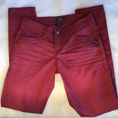 Silver Jeans Aiko Maroon Skinny Jeans Brand new without tags. 29 in inseam Silver Jeans Jeans Skinny