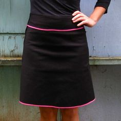cute A line skirt,