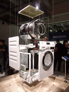 New washing machines from Miele - Gerald Giles Electronic Appliances, Vintage Appliances, Home Appliances, Small Appliances, Laundromat Business, Car Wash Business, Display Design, Store Design, Booth Design