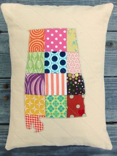 ALABAMA  State Love Pillow Sham  by theplaidscottie,