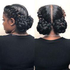 38 Truly Amazing Goddess Braids 38 Truly Amazing Goddess Braids – BelleTag # goddess Braids with weave Box Braids Hairstyles, Two Braid Hairstyles, Braided Hairstyles For Black Women, Braids For Black Hair, Braids In A Bun, Two Braids With Weave, Wedding Hairstyles, Hairstyle Ideas, Braids For Black Women Cornrows