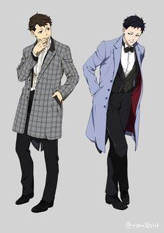 Kaminaga and Tazaki Joker Game Anime, Tekkaman Blade, Character Concept, Character Design, Gang Road, Showa Era, Disney Princes, Summer Special, Art Reference Poses