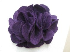 Cute large sized dark purple hair flower! $4.50 on my Etsy Shop - Cortnie's Corner