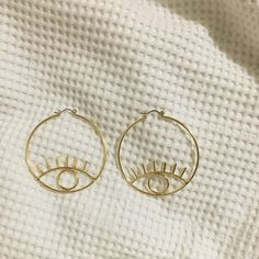 Bamboo Hoop Earrings - 2 inch large gold hoops/ big gold hoops/ bamboo earrings/ thick gold hoops/ statement earrings/ gifts for her - Fine Jewelry Ideas Cute Jewelry, Jewelry Accessories, Fashion Accessories, Jewelry Design, Jewelry Ideas, Fashion Jewelry, Cheap Jewelry, Trendy Accessories, Jewelry Trends