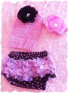 CUP cake 3pc Set Baby bloomers crochet tube top by TUTUCUTS, $15.00