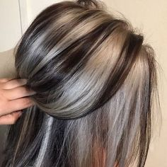 45 Top and Trending Hair Color Inspirations for This Winter - Hair - Hair Color Grey Hair Dye, Dyed Hair, Ombre Hair, Winter Hairstyles, Cool Hairstyles, Beautiful Hairstyles, Popular Hairstyles, Weave Hairstyles, Hair Inspo