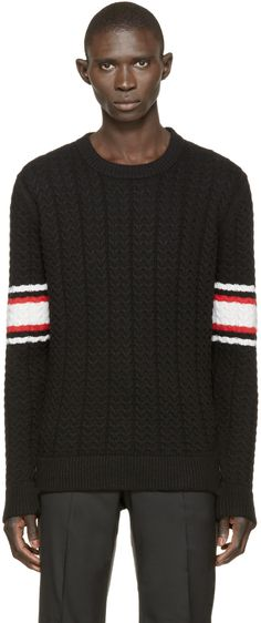 GIVENCHY Black Striped Knit Sweater.  givenchy  cloth  sweater Givenchy  Clothing, Givenchy bf385118a4f6