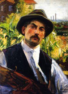 """""""Self-portrait"""" by Joseph Kleitsch, 1925"""