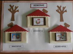 Νηπιαγωγείο Κοκκίνη Χάνι: ΞΕΚΙΝΑΜΕ ΣΙΓΑ- ΣΙΓΑ... Advent Calendar, Seasons, Christmas Ornaments, Holiday Decor, Blog, Kindergarten, Home Decor, Family Day, Crafts