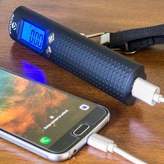 Rechargeable Digital Luggage Scale w/ 2600mAh Portable Charger & LED Flashlight